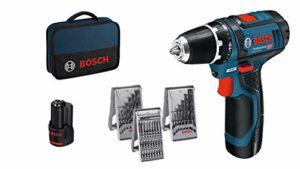 Bosch Professional Akkuschrauber GSR 12V-15 (2×2, 0 Akku, 12 Volt, 39tlg. Zubehör-Set, SchraubenØ max: 7mm, in Tasche) – Akkuschrauber kaufen